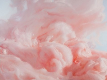 Will Cotton, The Coming Storm, 2014, Oil on linen, 72x96 inches,Courtesy of the artist, Mary Boone Gallery, New York and Ronchini Gallery, London