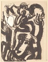 Hans Richter, Häuser, 1917, inchiostro di china su carta, 20.9x16.5 cm, Collezione privata © 2013 Hans Richter Estate Foto © 2013 Museum Associates/LACMA