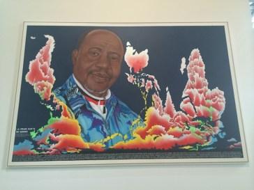 View of the exhibition Vivid Memories, May 10 – September 21, 2014, Fondation Cartier pour l'art contemporain, Paris, Chéri Samba, ph. Isabella Falbo