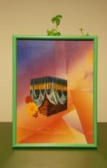 Riccardo Benassi, Sicilia Bambaataa, 2014 Collage in cornice pvc fluorescente, 22 x 30 cm Courtesy l'artista
