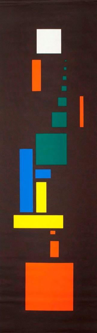 Hans Richter, Orchestration der Farben, 1923-1970, serigrafia su lino, 137.2x40.6 cm, Colelzione privata © 2014 Hans Richter Estate Foto © 2013 Museum Associates/LACMA