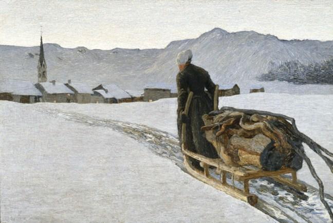 Giovanni Segantini, Ritorno dal bosco, 1890, olio su tela, 64.5x95.5 cm, Museo d'Arte dei Grigioni, Deposito della Fondazione Gotftfried Keller, Coira