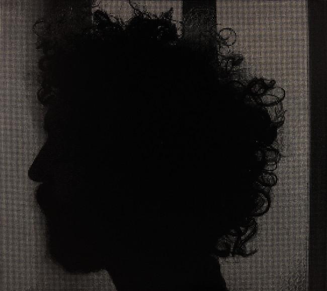 Davide La Rocca, Autoritratto di profilo,olio su tela, cm200x225, 2013