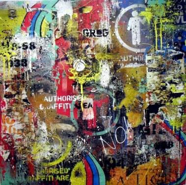 Carlo Inglese, No Authorized Area, 2013, 70x70 cm