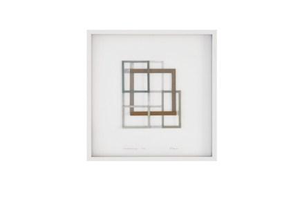 Alessandro Traina, Consequenza/3, 2014, acciaio corten, bitume e stoffa, 50x50 cm