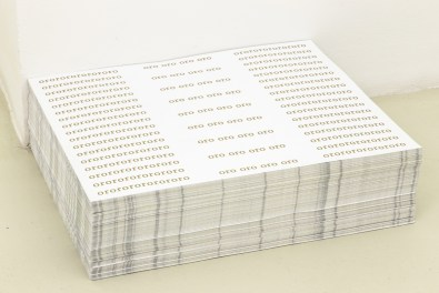 One side and the other, 2014, stack of double-sided posters, 1000 copies, cm 50×60