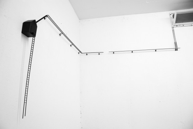 Anna Turina, Uscita d'emergenza, 2014, legno e ferro, 2014, 162x126x8 cm
