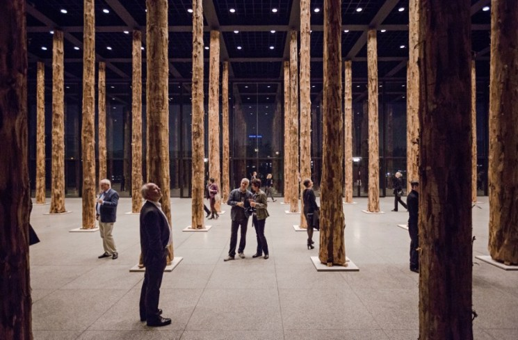 David Chipperfield, Sticks and Stones, an intervention , installation view, Photo: David von Becke.