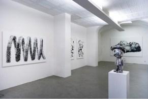 DANILO BUCCHI, MONOCHROME, INSTALLATION VIEW, courtesy galleria poggiali e forconi