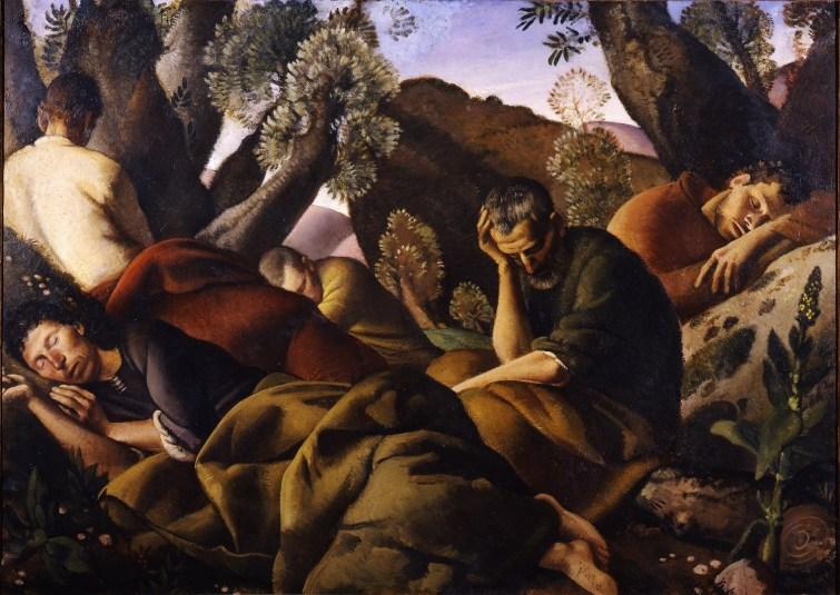 Felice Carena, Gli apostoli, 1926, olio su tela, cm. 161x 216, Galleria d'arte moderna di Palazzo Pitti, acquistato alla XV° Esposizione Internazionale d'Arte della Città di Venezia, 1926.