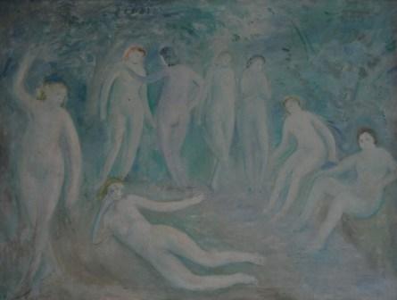 UMBERTO LILLONI, ESTATE, 1951, olio su tela, 89 x 117 cm