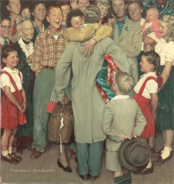 Norman Rockwell Christmas Homecoming (Ritorno a casa per il Natale), 1948 Cover of The Saturday Evening Post, December 25, 1948 Olio su tela, 90 x 85 cm Collection of The Norman Rockwell Museum at Stockbridge, NRM.1978.10 ©1948 SEPS: Licensed by Curtis Licensing, Indianapolis, IN, USA. All rights reserved. www.curtislicensing.com Norman Rockwell Museum Collections
