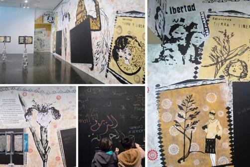 Herbario Imaginario 2014 (progetto site-specific La Flora Soñadora per il MACBA, Barcelona): Installazione, (tecnica mista) cm 170x 60 x60.