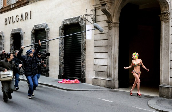 """Gianni Fiorito, Set del corto """"The Dream"""" di Paolo Sorrentino, Riprese a Roma"""