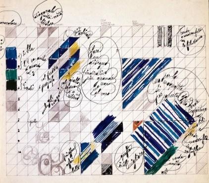 Gio Ponti, Pavimenti per gli uffici della Salzburger Nachrichten   Studio per pavimento @ Gio Ponti Archives