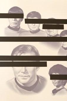 Nero, Gang banging on a star, 2011,passepartout sagomato, stampa fotografica su carta, black tape, cm 92x175x7