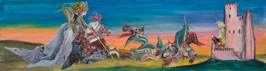 Emanule Luzzati. San Giorgio e il drago