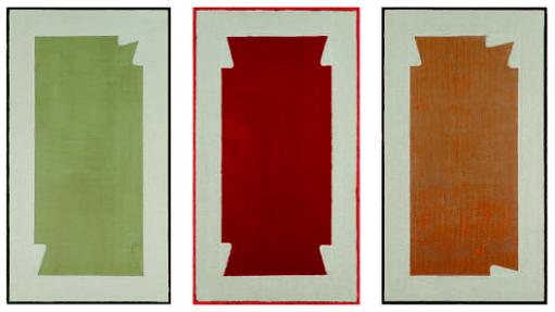 Stefano Cumìa, SCP TOV 3K - SCP TO 4K - SCP TOB 4K (tempera all'uovo, olio e gesso pigmentato su lino, 2014), LGT