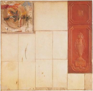 Robert Rauschenberg Interior, 1956 tecnica mista su tela (olio, matita, carta, legno, cappello, chiodi e stagno pressato) cm 122.56 x 117.79 x 19.05 © Estate of Robert Rauschenberg, by SIAE 2014 © Sonnabend Collection, New York