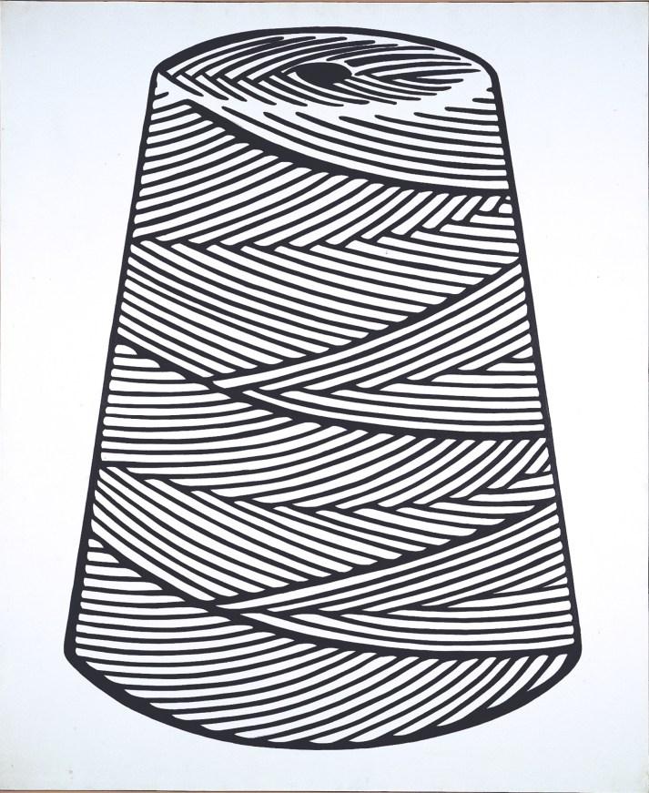 Roy Lichtenstein Large Spool, 1963 acrilico su tela 172.73x139.7 cm © Estate of Roy Lichtenstein, by SIAE 2014 © Sonnabend Collection, New York