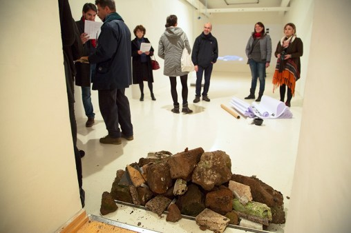 Mostra Μύθοι. Myths. Students/Artists/Teachers. A process of exchange Fondazione Pastificio Cerere, Roma, dicembre 2014 installation view