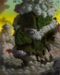 FULVIO DI PIAZZA, Green god, cm 100x80