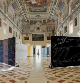 Giovanni Frangi, Lotteria Farnese, veduta della mostra, Museo Archeologico Nazionale, Napoli