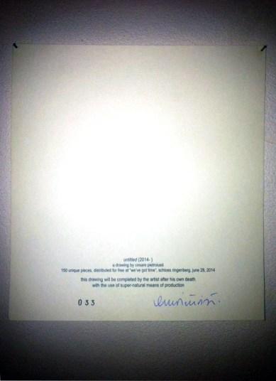 Cesare Pietroiusti, Untiteld, Novella Guerra, Io vedo io guardo, Rebirthday 2014
