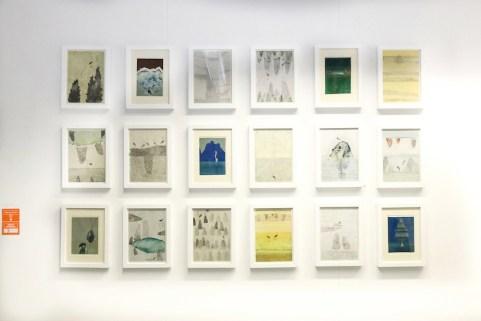 -Elisa Bertaglia, Bluebirds, 2015, Olio, Carboncino e matita sucarta, courtesy Martina's Gallery