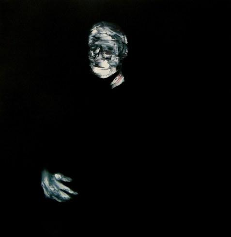Lorenzo Puglisi, Ritratto 300514, 2014, olio su tela, 100x100 cm, Special Project Courtesy Galleria Il MIlione