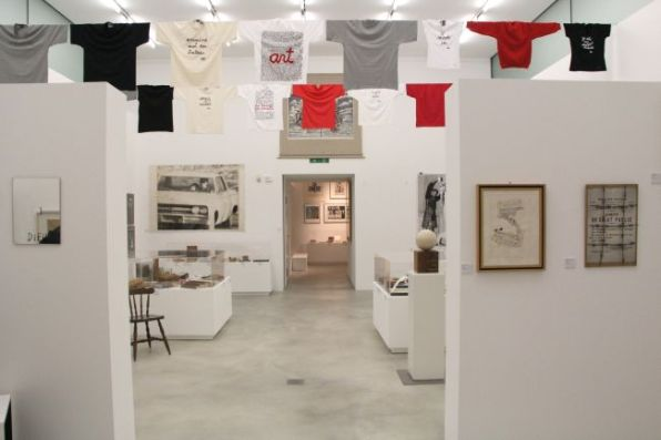 Veduta allestimento mostra Fluxus, aprile 2012, m.a.x.museo Chiasso