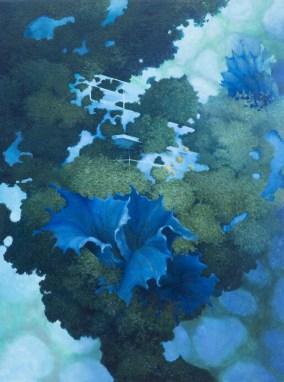 Carlo Cane, Alchimie naturali, 2014, olio su tela applicata su tavola, 89x60 cm