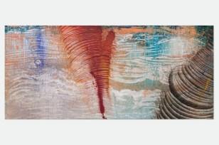 Roberto Coda Zabetta, FILM#51, 2014, smalto, tempera e pigmento su tela, 185 x 425 cm Courtesy Roberto Coda Zabetta Foto Matteo Girola