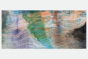 Roberto Coda Zabetta, FILM#52, 2014, smalto, tempera e pigmento su tela, 185 x 425 cm Courtesy Roberto Coda Zabetta Foto Matteo Girola