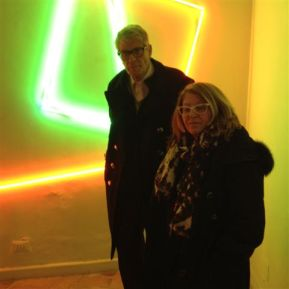 Manuela Bedeschi con il gallerista Pio Monti