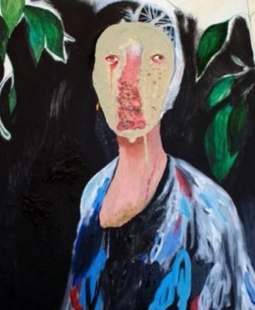Silvia Mei, Senza titolo, 2014, tecnica mista su tela, 60x50 cm