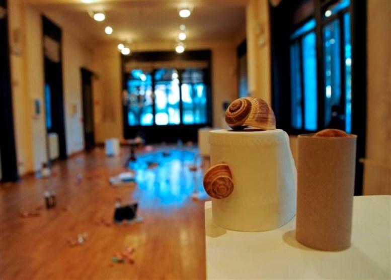 Gianluca Quaglia, Snails, particolare dell'installazione ambientale, Villa Gianetti, Saronno Foto Edio Bison