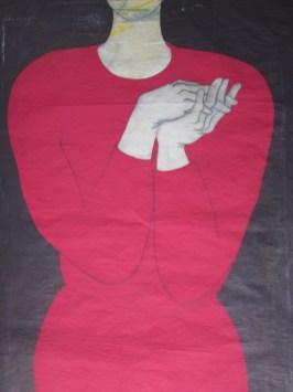 Tiziana Fusari, dalla serie VELE, pigmenti in polvere colla acquasu cm 150x100cartamodello