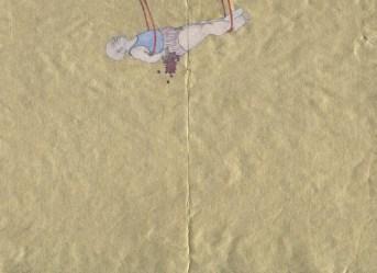 Tiziana Fusari, Comédie Humaine, tecnica mista su carta, 17x23,5 cm