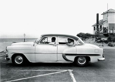 Saul Steinberg e Aldo Buzzi in auto negli Stati Uniti, Anni '60