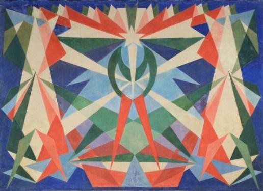 Giacomo Balla, Genio Futurista, 1925, olio su tela d'arazzo, 279x381 cm, Guidonia (Roma), Laura Biagiotti, Guidonia Foto Alessandro Vasari