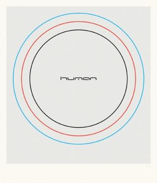 Franco Cervi, Human (2), 2014, serigrafia artistica a quattro colori su carta accoppiata con lastra di alluminio, 114x98 cm, Ed. di 5 + 1 p.a.