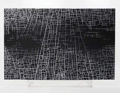 Massimiliano Galliani, Le Strade del Tempo #1, acrilico su tela, 280x420 cm