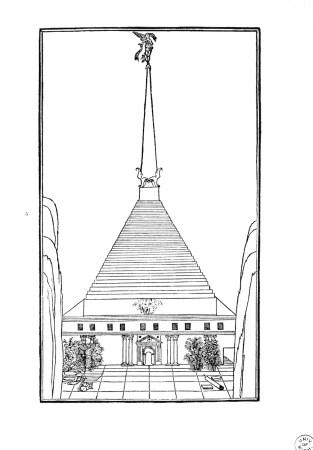 Raumplan, Tempio della Fortuna. Hypnerotomachia Poliphili, Venezia, Aldo Manuzio, 1499