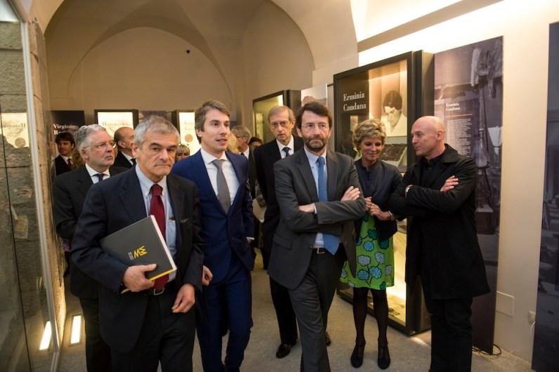 Da sinistra: Sergio Chiamparino (presidente Regione Piemonte), Christian Greco (direttore del Museo), Piero Fassino (sindaco di Torino), Dario Franceschini (ministro dei Beni e delle Attività culturali e del Turismo), Evelina Christillin (presidente del Museo)