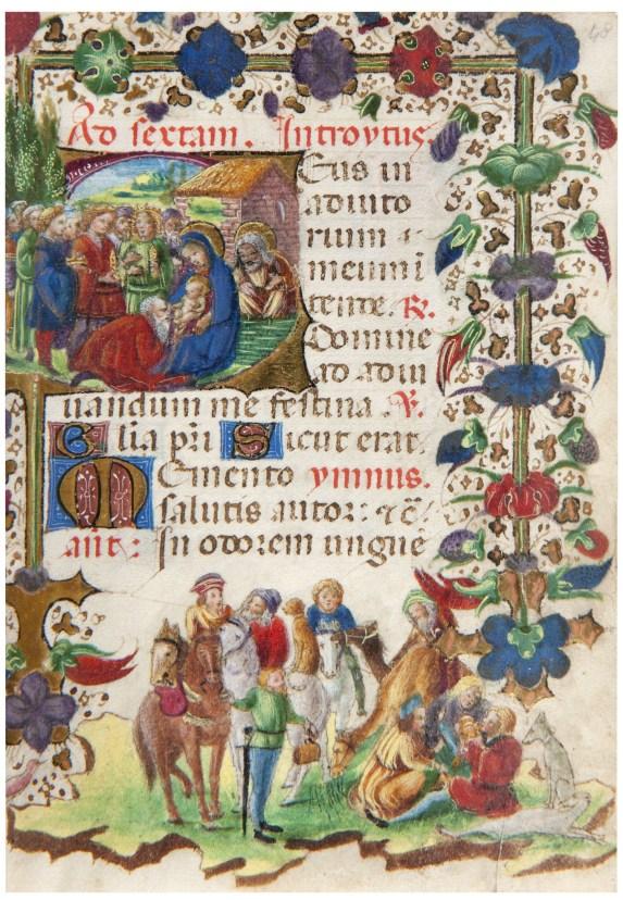 Seguace Michelino da Besozzo, Libro d'Ore, Natività, codice miniato, Pinacoteca Civica, Como