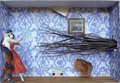 Monolocale 2, anno 2014, tecnica mista, cm 21x30