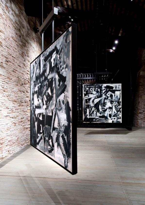 Emilio Vedova, veduta allestimento Frammenti Expo '67, Venezia