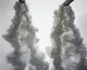 Mitch Epstein, Gavin coal power plant, Cheshire, Ohio, from American Power, 2003/2015, Stabilimento a carbone di Gavin, Cheshire, Ohio, from American Power, C-print, 144x116.5 cm © Mitch Epstein Courtesy Yancey Richardson Gallery, New York