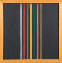 Elio Marchegiani, Grammature di colore - supporto intonaco, 1974, lavagna e pigmenti, 54.5x54.5 cm Courtesy Primo Marella Gallery